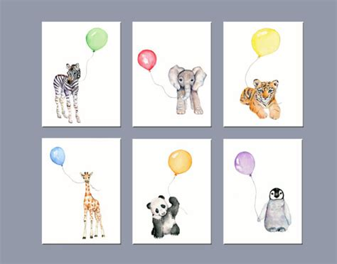 Nursery Art Animals Nursery Wall Decor Zoo Animal Nursery Animal Nursery Decor