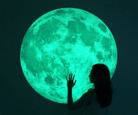 glow in the stickers for walls glow in the moon wall sticker the