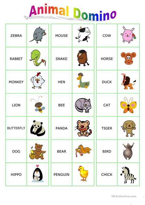 printable animal dominoes animal dominoes worksheet free esl printable worksheets