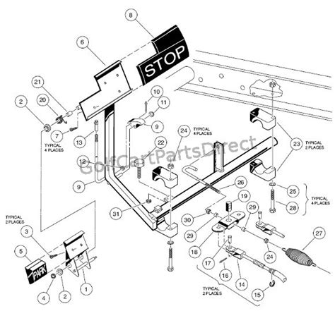 brake pedal assembly diagram brake pedal cable assembly club car parts accessories