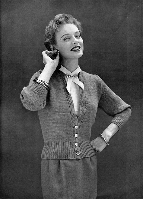 50s knitting patterns musings from marilyn 187 classic vintage 50s cardigan