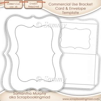 Nrp Card Template by Bracket Card Envelope Template Commercial Use Ok 163 3 50