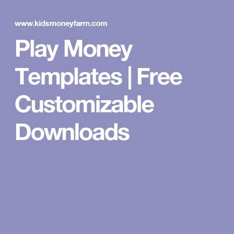 customizable money template play money templates free customizable downloads
