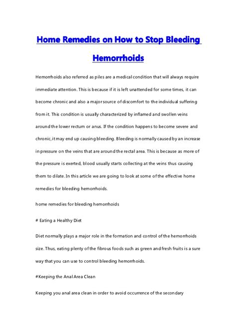 how to stop from home remedies home remedies on how to stop bleeding hemorrhoids