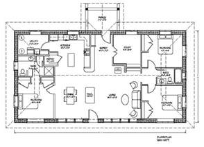 Rectangular House Floor Plans Eco Family Plan