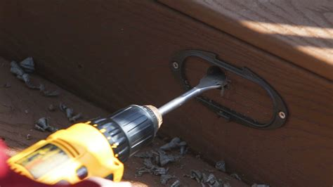installing lights on deck how to install azek lighting fascia on deck installing