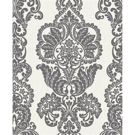 decor rochester damask textured glitter wallpaper