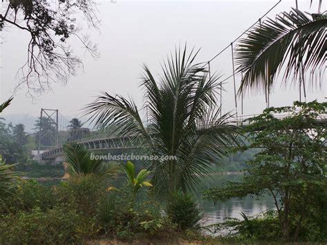 manual design jembatan gantung kung merasa wisata budaya alam east kalimantan timur