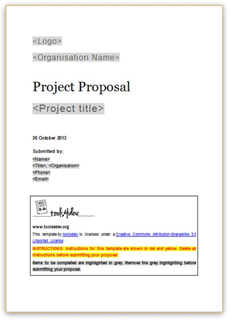 proposal template free printable documents