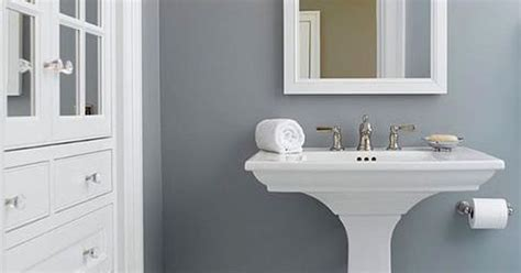 solitude by benjamin looks amazing in this bathroom
