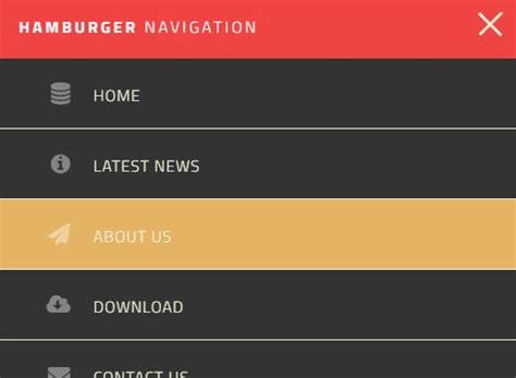 design navigation menu css create a responsive slide toggle navigation with jquery