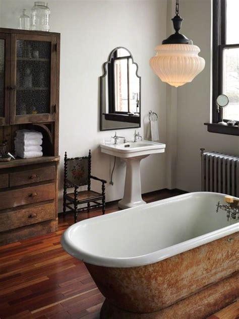 bathroom rustic modern mix     standing