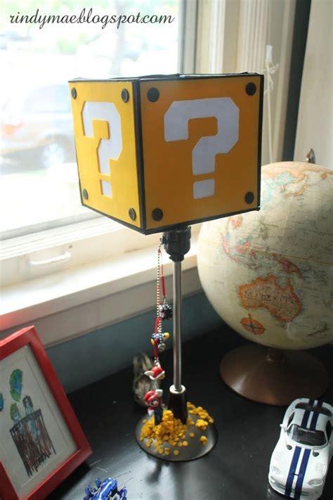 custom super mario block lamp   mario themed