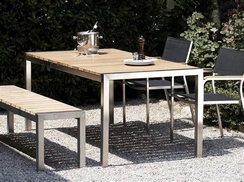 tische outdoor jan kurtz luxury outdoor tisch in edelstahl teak 180 x
