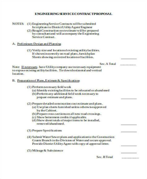 engineering proposal templates   word  format   premium templates