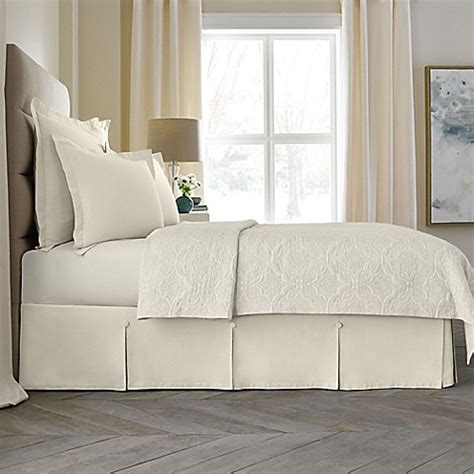 bed bath and beyond bed skirts wamsutta 174 collection button pleated bed skirt bed bath