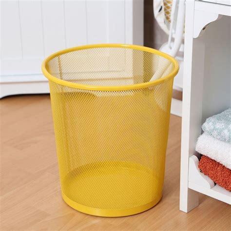 bedroom wastebasket large colourful metal mesh waste paper basket office
