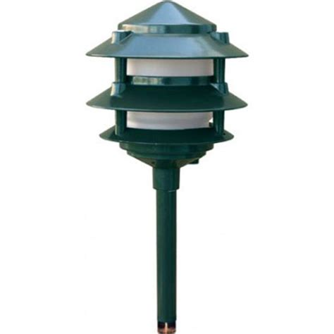 Filament Design Corbin 1 Light Green 3 Tier Pagoda Outdoor Outdoor Led Path Lights
