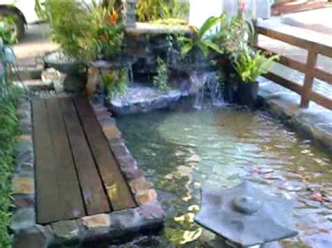 backyard fishpond philippines koi pond with waterfalls in quezon city philippines youtube