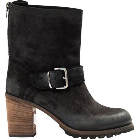 half boots donna black quot nero quot suede half boots paolo shoes