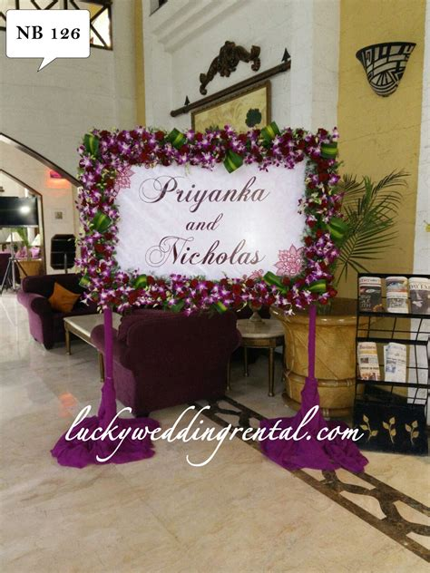 Wedding Name Board by Name Boards Decorations On Rent Lucky Wedding Rental