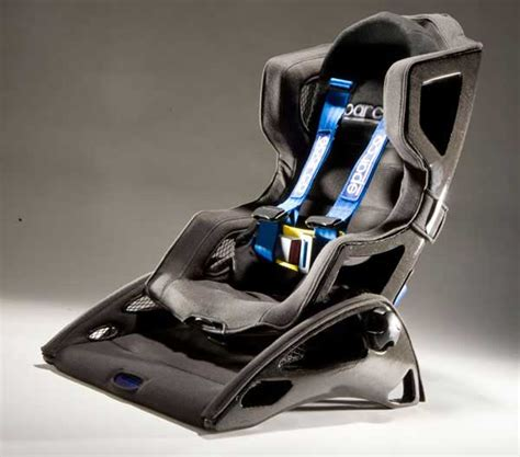 Child Cing Chair prototype carbon fiber child seat takes inspiration from racing