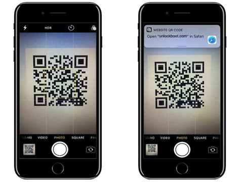 scan qr codes with iphone running ios 11 using the app