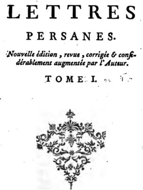 lettere persiane montesquieu senato magistrale