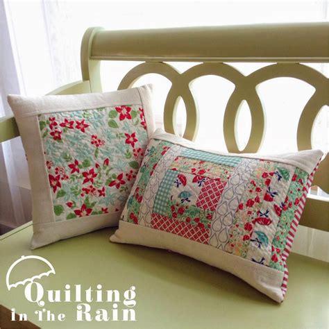 Quilt Pillow by Quilt As You Go Improv Pillows 171 Moda Bake Shop
