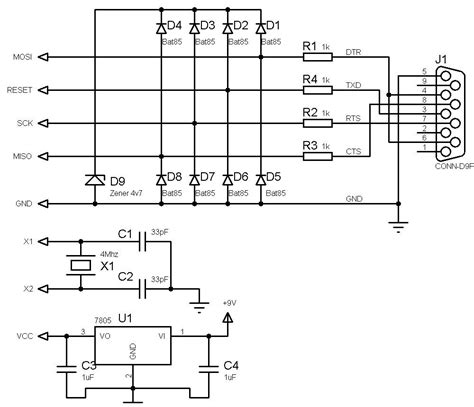 serial port pic programmer circuit diagram make your own ultra simple universal avr programmer