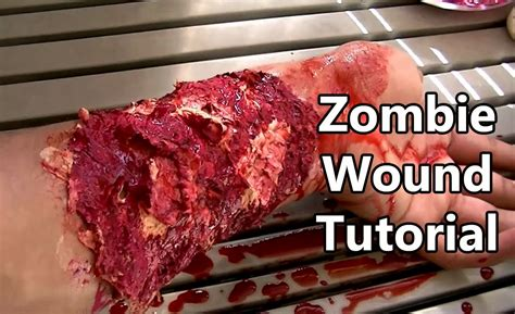 latex wound tutorial zombie wound tutorial without liquid latex youtube