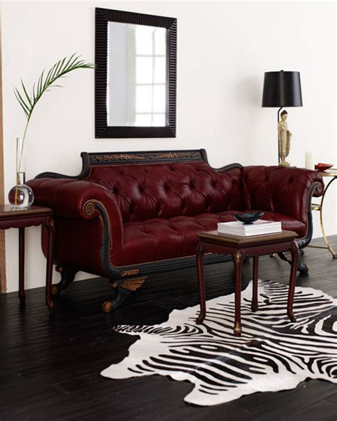 red tufted couch old hickory tannery red tufted leather sofa loveseat