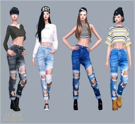 sims 4 cc boyfriend jeans 15 best sims 4 adult female jeans images on pinterest