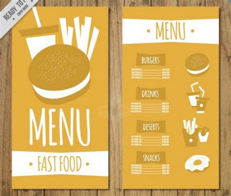burger menu template top 30 free restaurant menu psd templates in 2018 colorlib