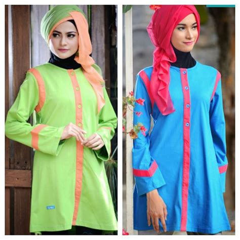 Blouse Muslim Baju Atasan Wanita Nazli Blouse 590 best images about menjahit on dubai