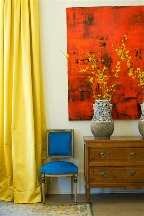 Living Room With Yellow Curtains Yellow Silk Curtains Design Ideas