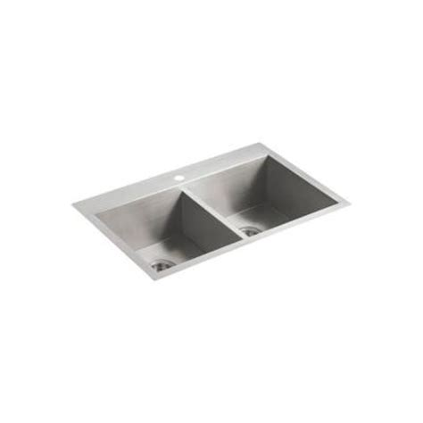 Kohler Vault Kitchen Sink Kohler Vault Self Undercounter Stainless Steel 33x22x9 3125 1 Bowl Kitchen Sink