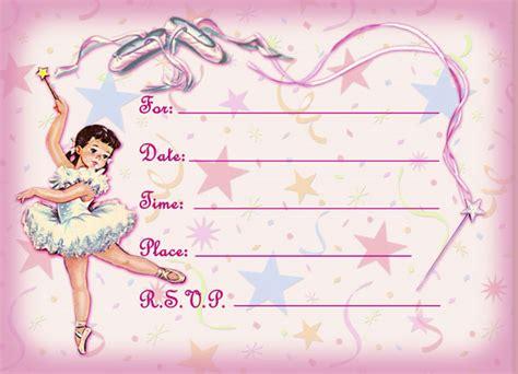ballerina birthday card template ballerina birthday invitations ideas bagvania free