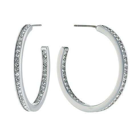 radiance with swarovski large hoop earrings h samuel