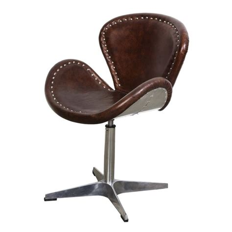 unique swivel chairs the mercury swivel chair brown vintage leather from lh imports is a unique home decor item lh