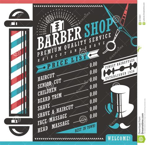 barber shop price list template barber shop hair styles short hairstyle 2013
