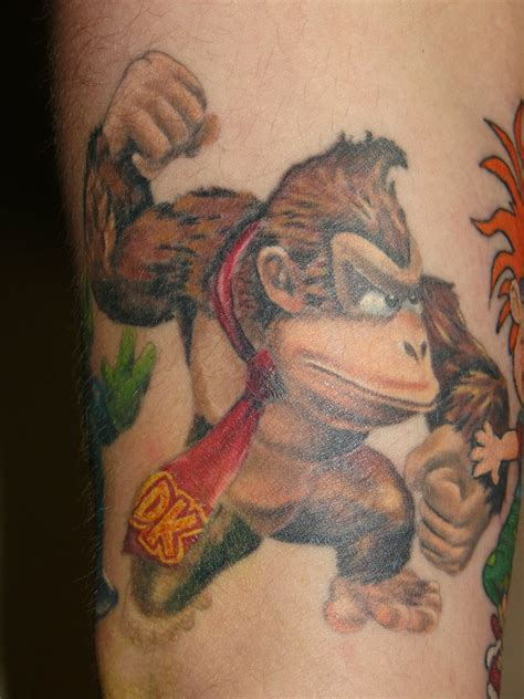 donkey kong tattoo kong by mrstaggerlee on deviantart
