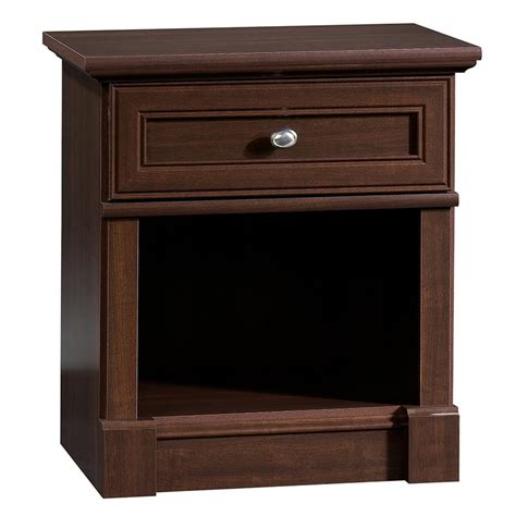 night table ls home depot sauder palladia collection select cherry night stand table