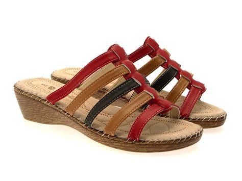 ladies comfort sandals womens comfort low wedges strappy sandals mules ladies