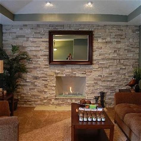 Dining Room Sets For Less stone accent wall design ideas