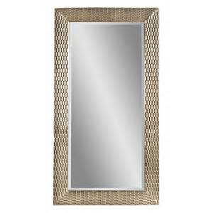 silver decorative leaning floor mirror 43w x 80h in