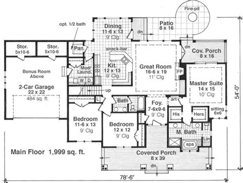 bhg floor plans featured house plan bhg 9664