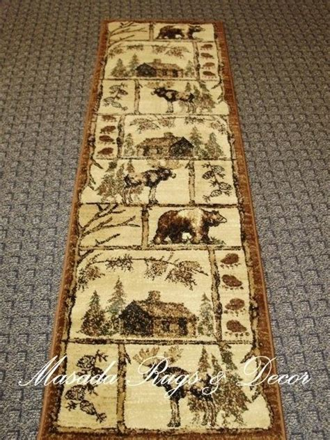 cabin style area rugs runners brown beige and rugs on