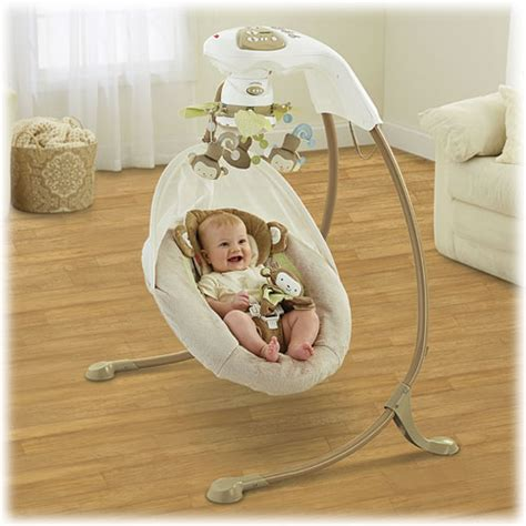 fisher price snug a monkey swing my little snugamonkey special edition cradle n swing