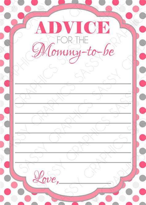 To Be Advice Cards Template by Baby Shower Advice Cards Template 28 Images 8 Best